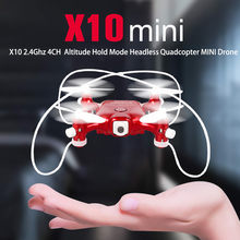 X10 2.4Ghz 4CH Altitude Hold Mode Headless Quadcopter Innovative Selfie MINI Drone 4-axis Gyro Agility Rc Quadcopter 2019 Hot(China)