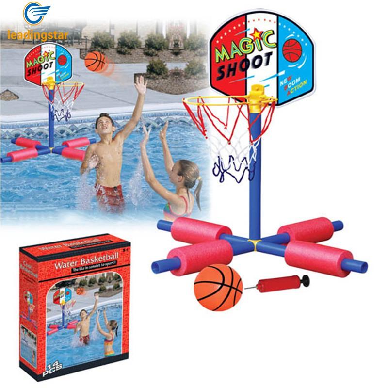 leadingstar juguetes nios nios juguete piscina flotante baloncesto stands con piscina conjunto de baloncesto juego de