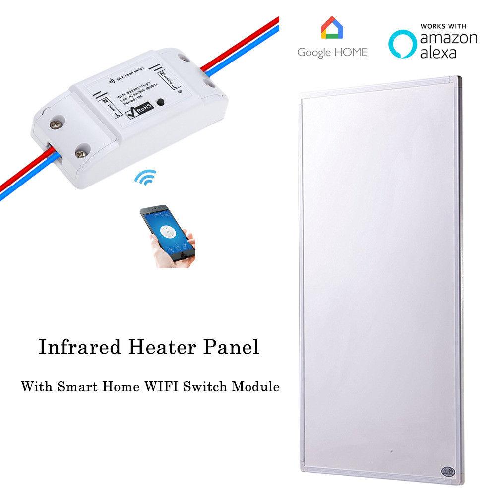 600 Вт умный дом инфракрасный обогреватель панель Wifi беспроводной переключатель управления Электрические нагреватели      АлиЭкспресс