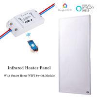 600 w 스마트 홈 적외선 히터 패널 와이파이 무선 스위치 제어