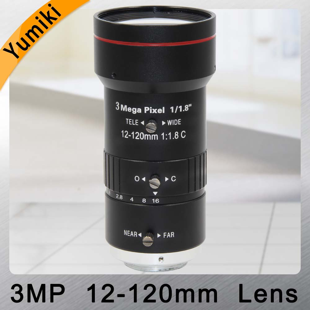 Yumiki 3.0 mégapixels Zoom Iris manuel objectif 12-120mm 1/1. 8