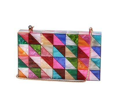 Hot New Colorful Acrylic Clutch Bags Women Evening Handbags Striped Lady Gilr Summer Beach Acrylic Flap Purse Acrylic Box Bags цена