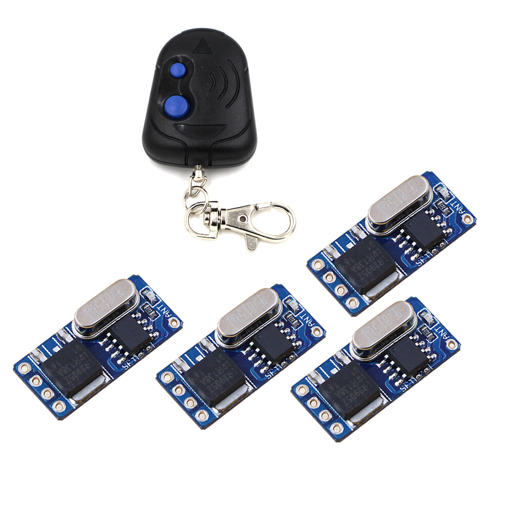 Good Sales DC3.5V-DC12V 3.7V 4.2V 5V 6V 7.4V 9V 12V Mini RF Receiver Micro Remote Control Switches Momentary Toggle Learning dc12v rf wireless switch wireless remote control system1transmitter 6receiver10a 1ch toggle momentary latched learning code