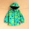 2016 Nueva primavera y otoño chicas moda casual cazadora con capucha niños prendas de abrigo niños chaqueta de la ropa de los niños
