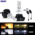 H7 50W 4000lm Car LED Headlight Conversion Kit 3000K/6500K CREE Chips Single Beam Front Headlamp Fog Light Bulbs 12V 24V