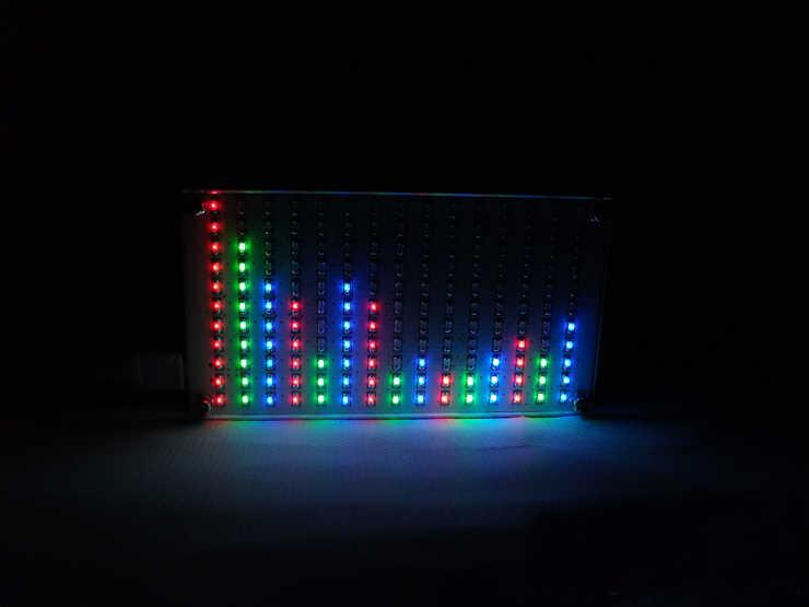 CLAITE 5V เสียง LED สเปกตรัมดนตรีอิเล็กทรอนิกส์ DIY LED Flash ชุด DIY LED สเปกตรัมดนตรีจอแสดงผลขนาดใหญ่