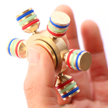 10 pcs EDC Anti Stress Toys For Kids Adults Newest Glowing Hand Spinner Fidget Finger Gyro Ceramic Ball Bearing Desk Focus Toy