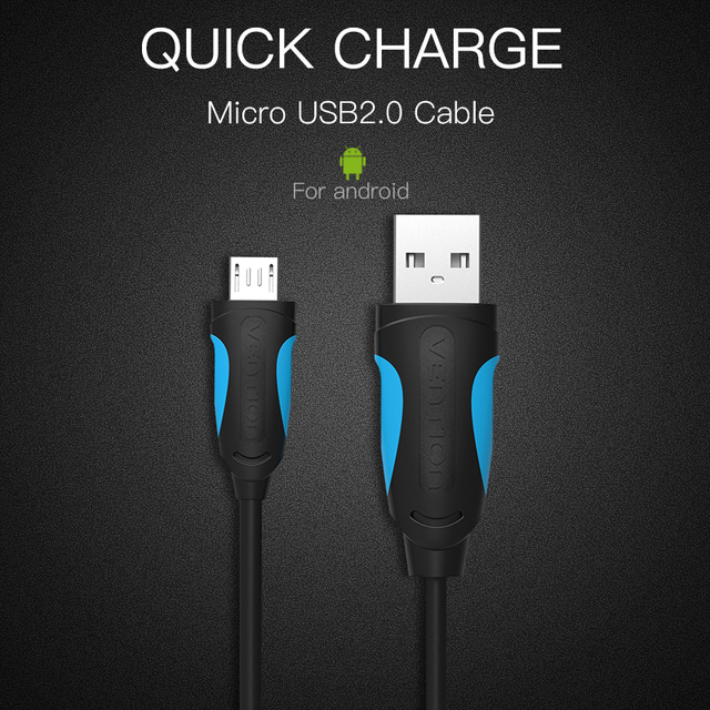 2018 New Vention Micro USB Cable Fast Charging Wire For Android Mobile Phone Data Sync Charger Cable 1M 2M 3M For Samsung HTC Xiaomi Sony Online