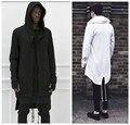 Оригинальный дизайн 2015 Новая Мода мужская пальто толстовки ласточкин хвост кардиган хип-хоп мужчины с капюшоном черный плащ верхняя одежда негабаритных уличная