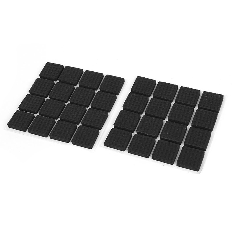 Furniture Table Feet Floor Protection Pads Protectors 18mm 32pcs Black