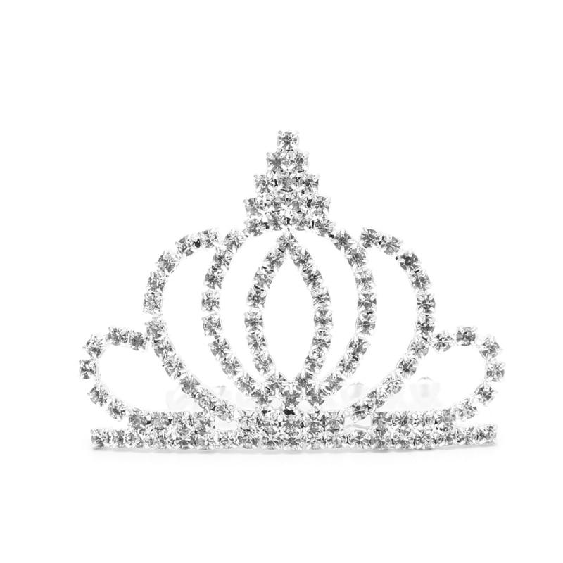 1PCS Bridal Rhinestone Crown Comb Tiara Hair Band Headband Jewelry Pageant Wedding Hairwear