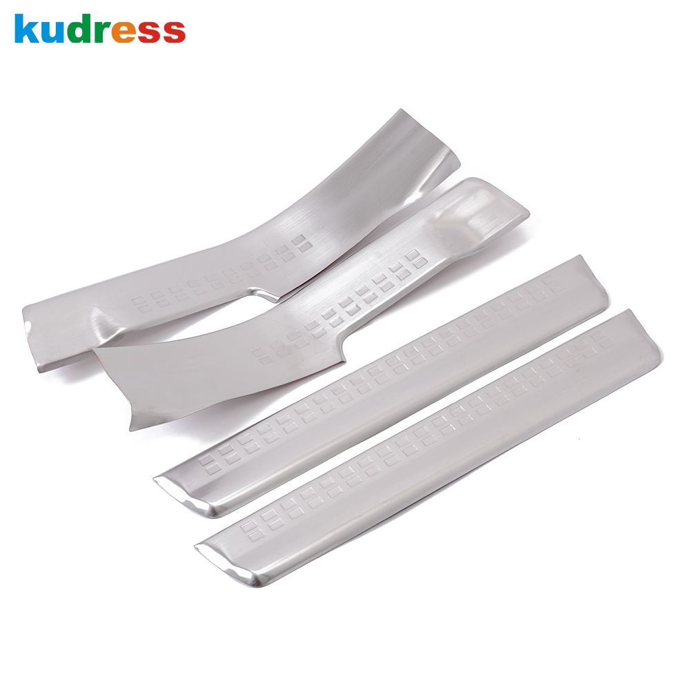 For VOLVO XC60 2008-2014 Stainless Scuff Plate interior Door Sills Thresholds Pad Tread Plates  Trim