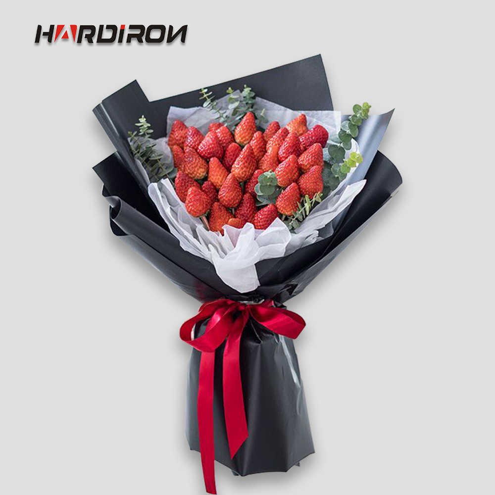 HARDIRON Frosted Waterproof Bouquet Packaging Paper Plastic Material Flower Wrapping Paper Solid Color Matte Paper