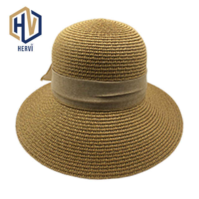 dfbbd479d2b51e 2018 Top Brand Dropshipping Ladies Casual Straw Hat Sun Shade Simple Women  Hat Beach Female Summer Hats Chapeu Wholesale NS203-A