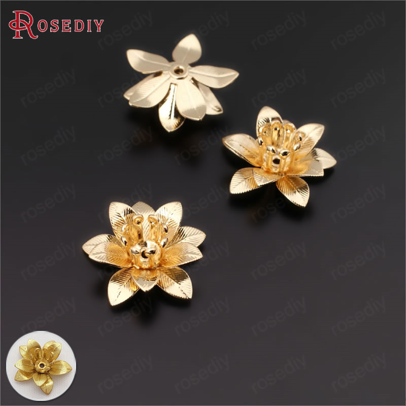 20pcs Flower receptacle Bead Caps for Jewelry Making Bracelet Accessories DIY