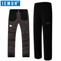 ONE SNOW Outdoor Hiking Pants Men Windproof Warm Fleece Pants Thicken Winter Camping Double Deck Polar