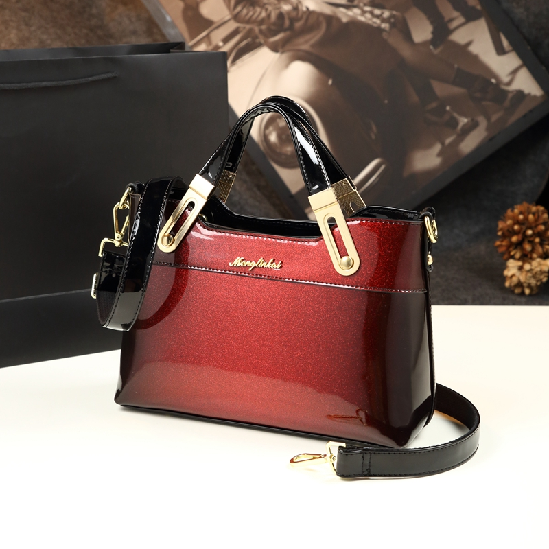 73d725054ed9 2019 new luxury handbag women bag designer high quality patent leather  handbags famous brand evening party clutch messenger tote