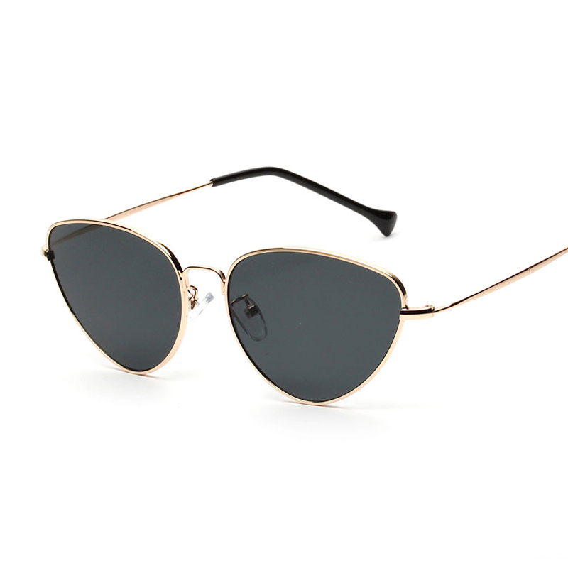 Peekaboo vermelho olho de gato óculos de sol das mulheres lente clara óculos  de sol para as mulheres olho de gato de metal uv400 amarelo rosa em Óculos  de ... cba9448d07
