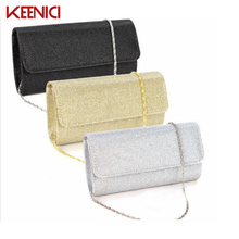KEENICI2016 Women Satin Rhinestone Evening Clutch Bag Ladies Day Clutch Purse Chain Handbag Bridal Wedding Party Bag Bolsa Mujer