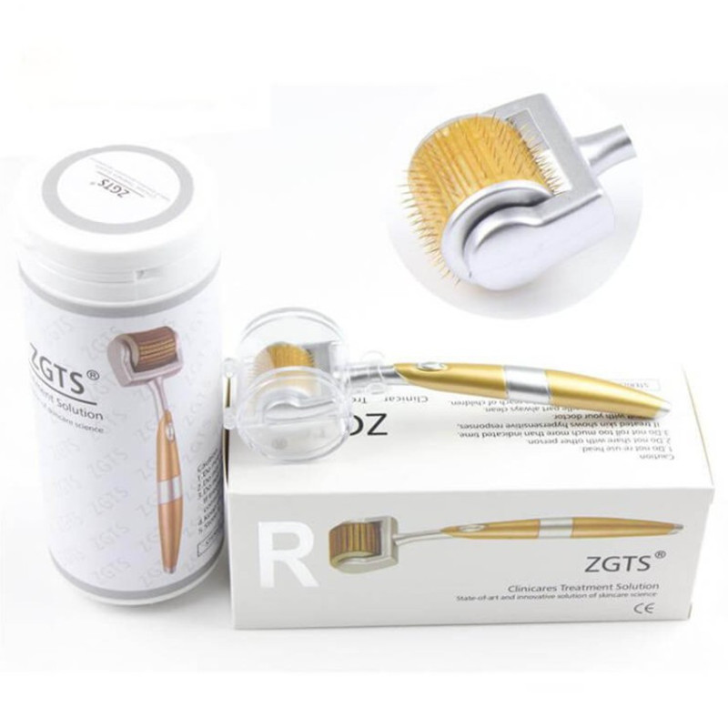 new-Professional-Titanium-ZGTS-Derma-Roller-192-needles-for-face-care-and-hair-loss-treatment-CE
