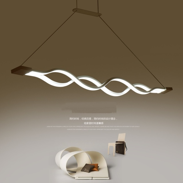 unique pendant lighting. Curved LED Pendant Lights Modern Dining Room Living Warm Unique Creative Bedroom Lighting Lamps