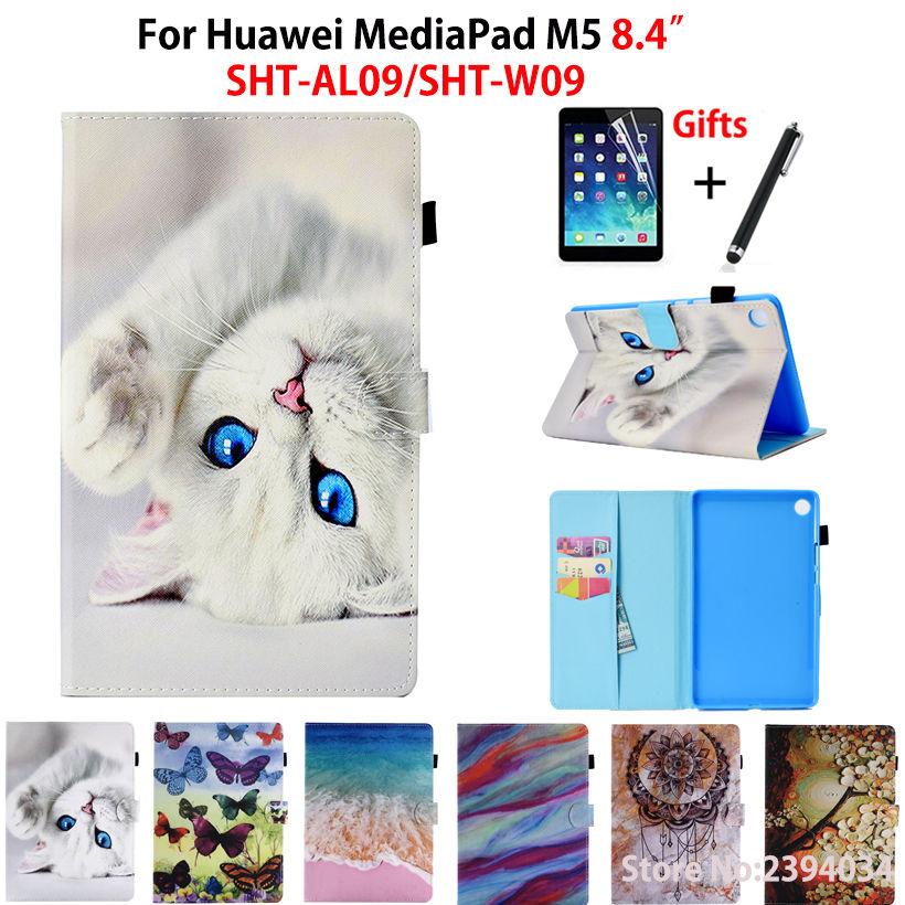 Cartoon Cat Case For Huawei Mediapad M5 8.4 SHT-AL09 SHT-W09 8.4