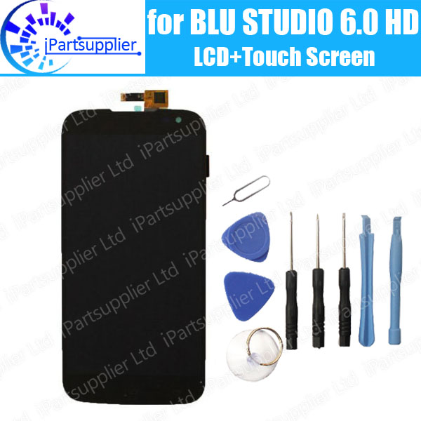 New for BLU STUDIO 6.0 HD D650 D650a D650i  LCD Display with Touch Screen Digitizer Glass Assembly + free tools,Free shipping