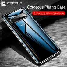 Cafele Plating Transparent Case for Samsung Galaxy S10 Plus S10e Cover Soft TPU Thin Silicon S10Plus