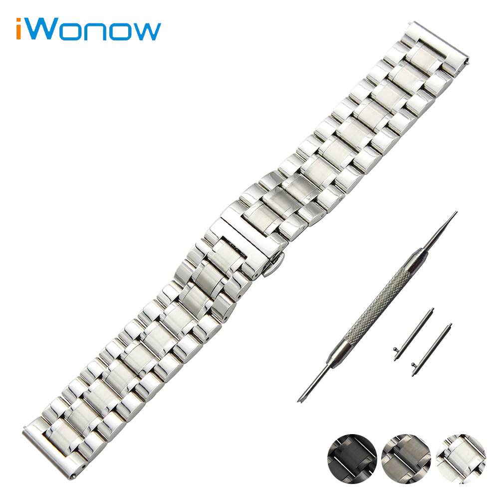 Stainless Steel Watch Band 20mm for Samsung Gear S2 Classic R732 / R735 Quick Release Strap Butterfly Buckle Wrist Belt Bracelet black silver stainless steel buckle wrist watch straps for samsung gear s2 classic watchband with remover tool free