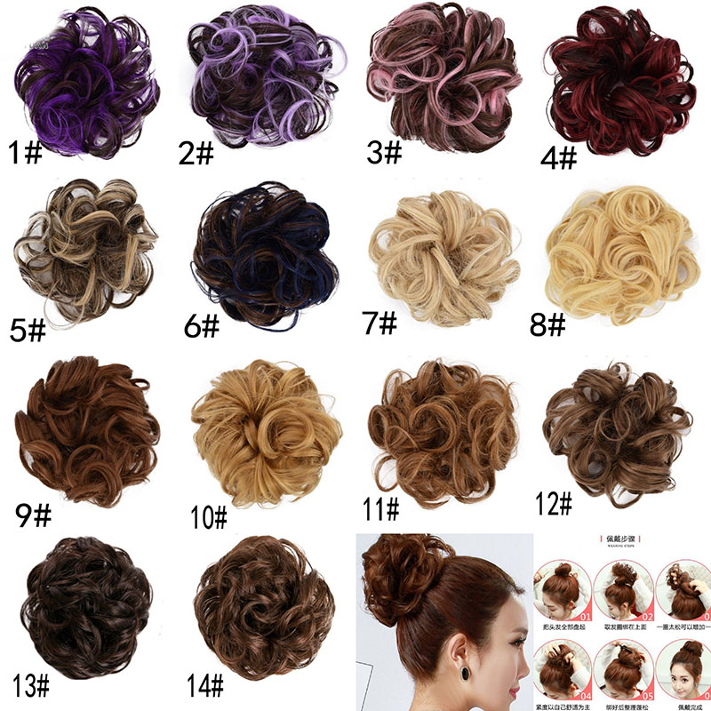 Women Messy Bun Curly Drawstring Hair Girls Magic Wave Shaper Donut Hair Ring Bun Haar Accessories Lady Styling Tool