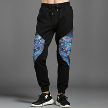 Hot fashion men's casual pants Chinese style dragon print Leisure Pants Chic men sweatpants M-3XL D729