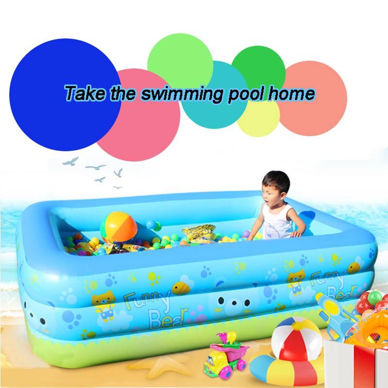 Bioby gonflable enfants baignoire bébé bain à remous Portable épaississement pliant piscine bains à remous baignoire pour enfants adultes