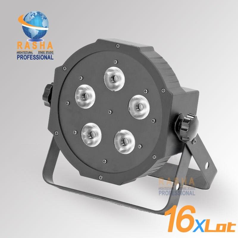 16X LOT Rasha HexV6 New Arrival 5*18W 6in1 RGBAW+UV LED Par Profile,LED Mega Profile Light,Disco Stage Par Light for Event Party