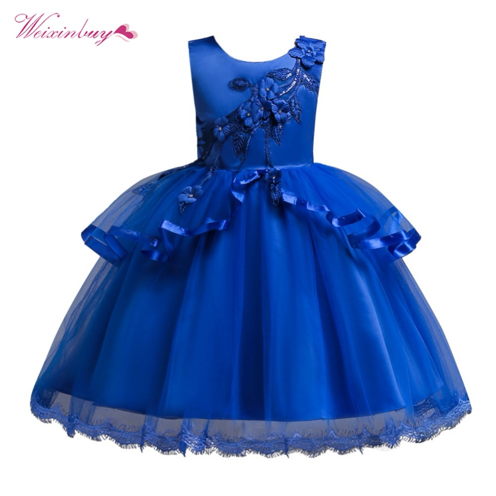 Baby Princess   Dress     Flower     Girl     Dress   Summer Tutu Wedding Birthday Party   Dresses   For   Girls   Children Costume
