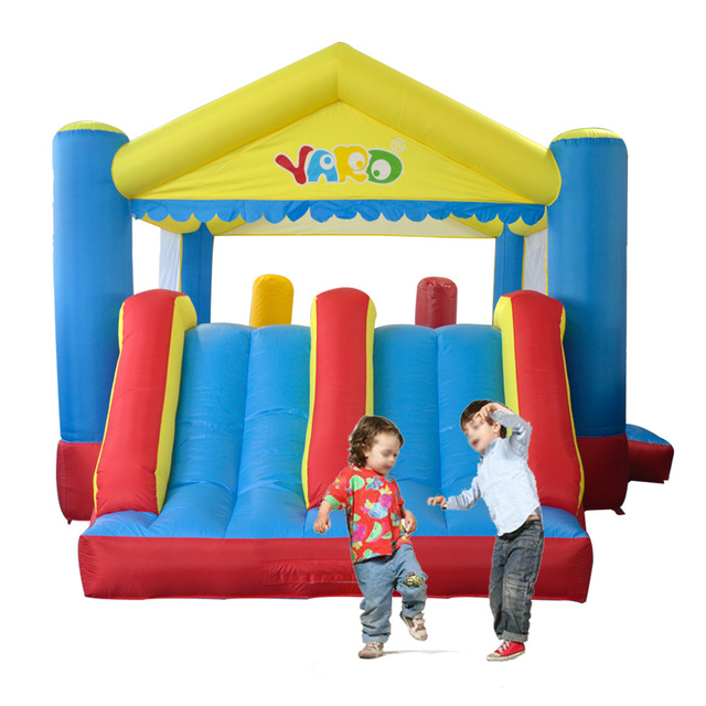 YARD Inflatable Toys Double Slide Jumping Bounce House Kids Playing Castle Outdoor Trampoline Special Offer for Middle East