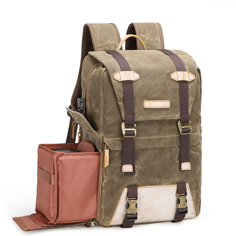 Retro Style Camera Backpack Batik Canvas Waterproof Backpack Outdoor Photography Bag for Canon Nikon Sony Digital Camera BagRetro Style Camera Backpack Batik Canvas Waterproof Backpack Outdoor Photography Bag for Canon Nikon Sony Digital Camera Bag