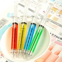 5 шт./лот шариковая ручка шприца для школьников, принадлежности для письма, креативная ручка шприца