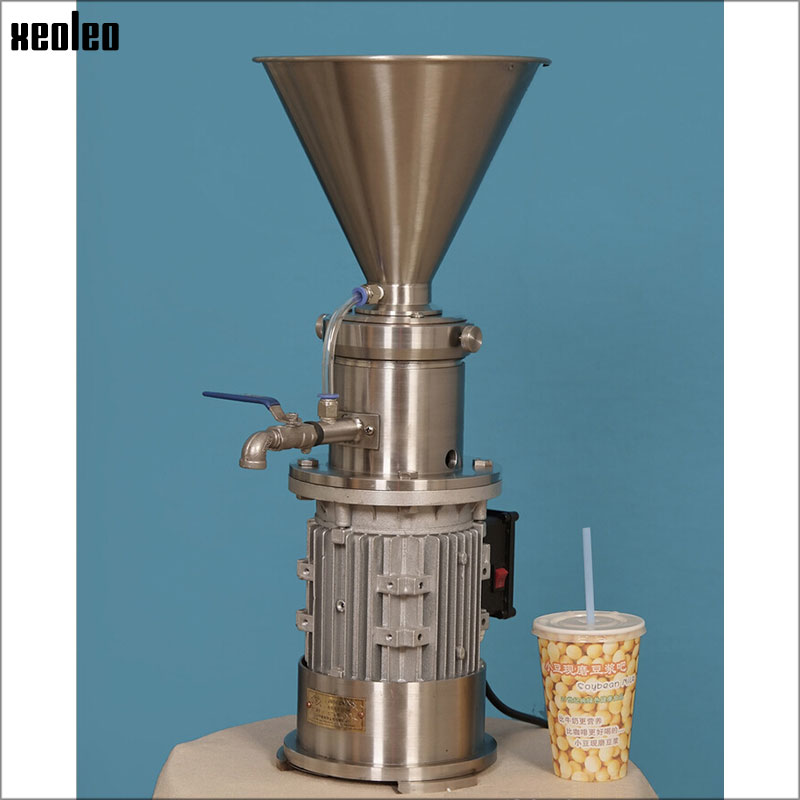 XEOLEO Commercial Refining machine Soymilk machine Peanut butter sesame process machine 550W/2.5L Peanut Butter Maker 220v 1pc mini dry wet eletric stone grain mill sesame butter machine peanut butter machine corn crusher stone mill soymilk