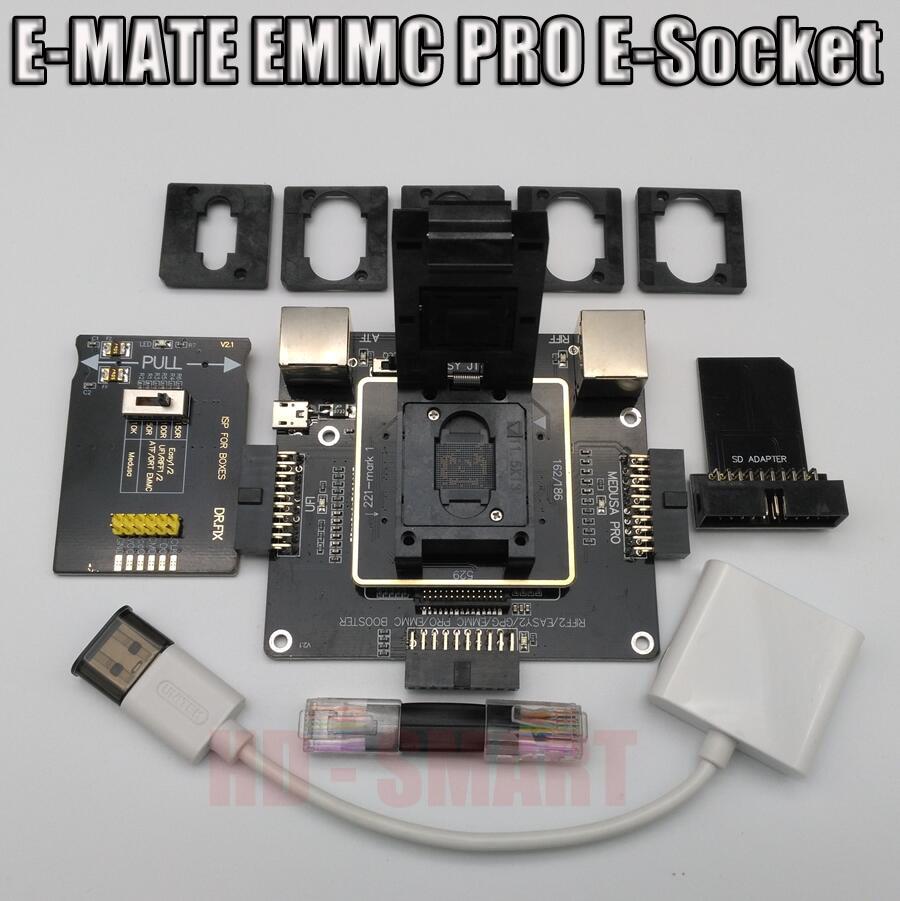 E-MATE Box E Mate Box E-Socket 6 In 1 No Welding BGA169E BGA162 BGA221 Support Medusa Pro Box /UFI/ATF/EASY JTAG Plug/RIFF BOX