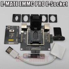 E MATE caja E mate caja de E Socket 6 en 1 sin soldadura BGA169E BGA162 BGA221 apoyo Medusa Pro caja/caja de la asociación/ATF/JTAG fácil enchufe/caja riff