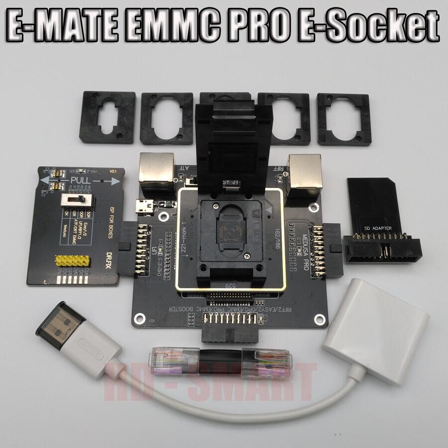 E-MATE scatola E compagno di box E-Socket 6 in 1 Nessuna saldatura BGA169E BGA162 BGA221 supporto Medusa box Pro /UFI/ATF/FACILE JTAG Spina/RIFF BOX