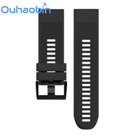 Ouhaobin 5 Colors 26mm Width Outdoor Sport Silicone Strap Watchband For Garmin Band Silicone Band For
