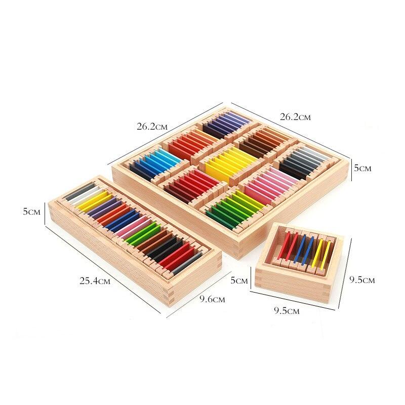 Montessori jouets éducatifs en bois Montessori matériaux sensoriels 27 couleurs reconnaissance jouets en bois pour enfants UB0666H - 6