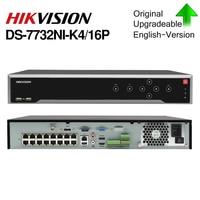 hikvision original DS 7732NI K4/16P 32CH NVR 16CH POE 8MP Resolution 4SATA
