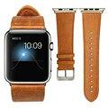 Для Apple Watch Band Leather Loop 42 мм Браслет Кожаный Ремешок Адаптер для Apple Watch Ремешок 42 мм iWatch Ремень 38 мм коричневый