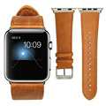 For Apple Watch Band  Leather Loop 42mm Bracelet Leather Watchband Adapter for Apple Watch Strap 42mm iWatch Strap 38mm Brown