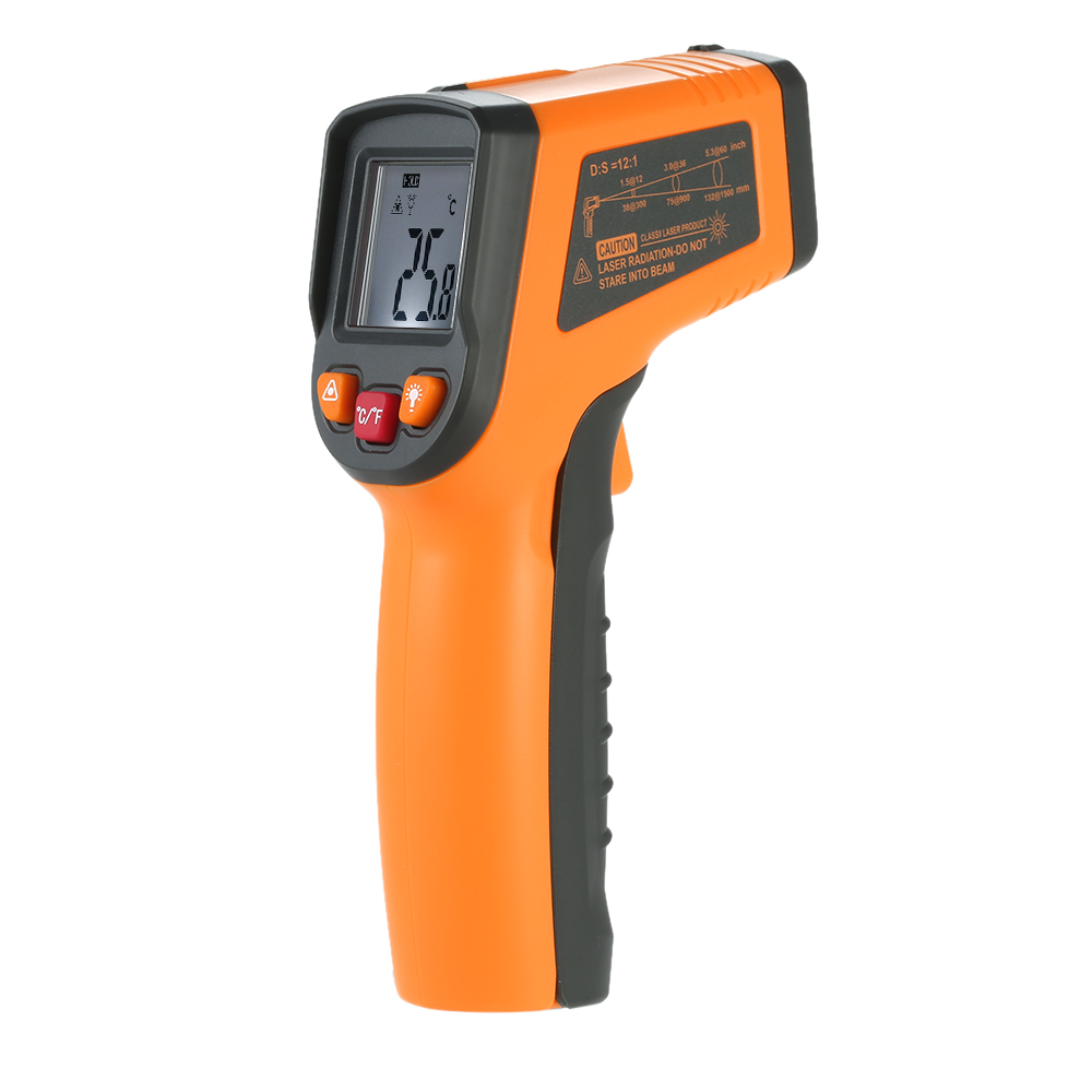 LCD Display IR Infrared Digital Temperature Non-Contact Thermometer gauge Pyrometer Imager temperatura laser C/F Selection factory electric contact thermometer gauge full specification sx411 page 5