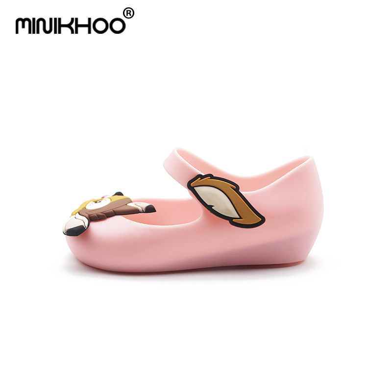 Mini Melissa 2018 New Deer Bambi Shoes Jelly Sandals For Girl Non-slip Baby Sandal Toddler Shoes Melissa Breathable 15cm-18cm