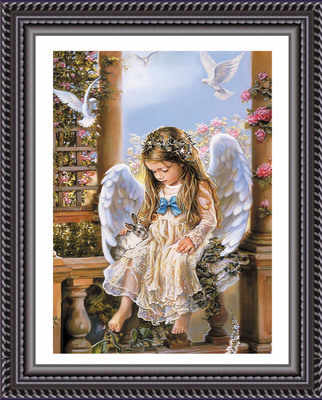 Needlework,DIY 5D Cross stitch,Set for Full Embroidery kits,Guard Angel Baby Pray Catholic Count Cross-Stitch,Paint Wall Decro