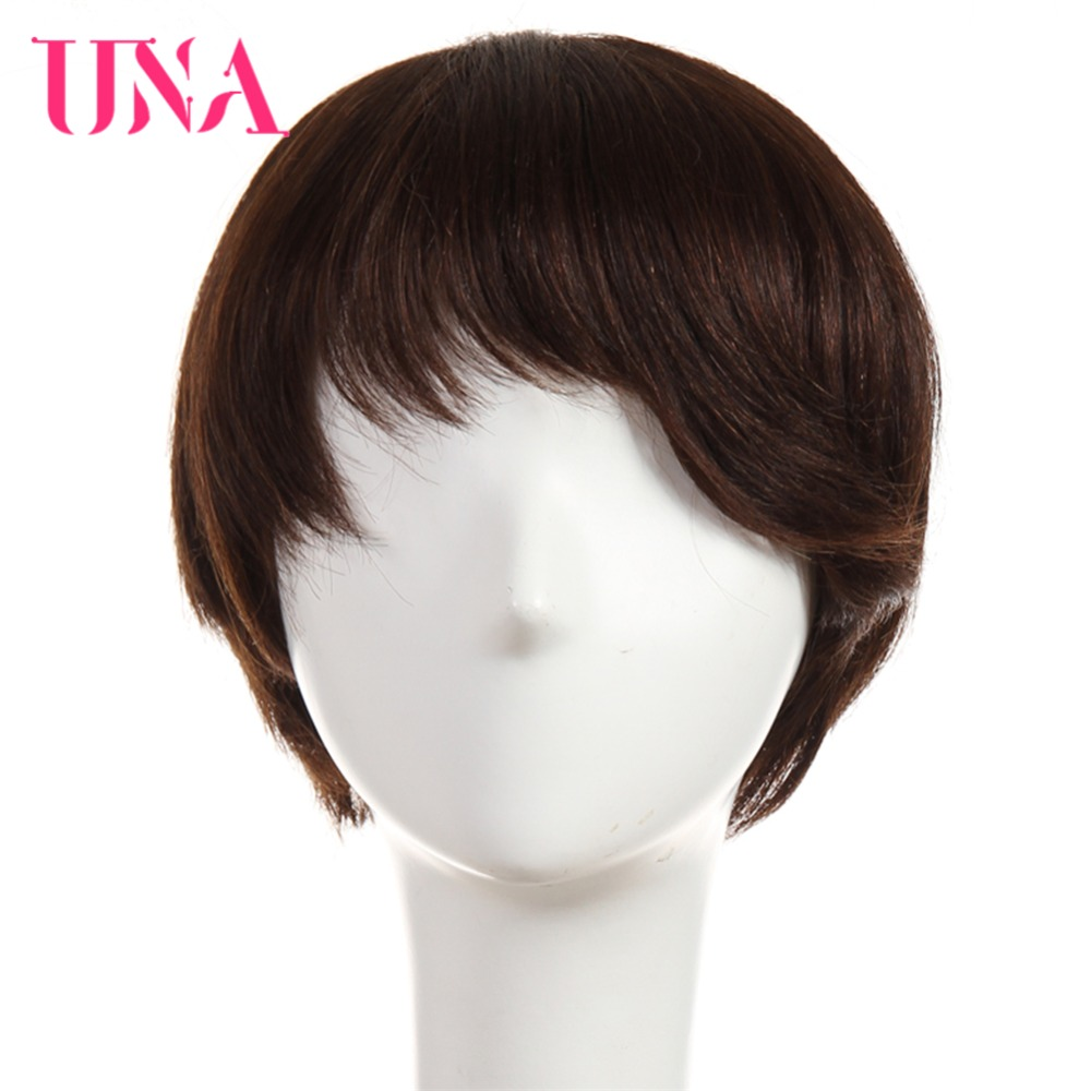UNA Remy Brazilian Straight Human Hair Wigs For Women 120% Density Color #1 #1B #2 #4 #27 #30 #33 #99J #BUG #350 #2/33
